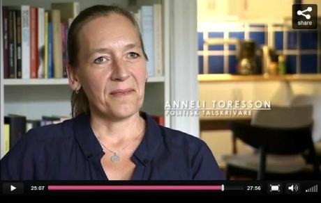 TV-argumentation om retorik. Foto: dump UR Play, Världens språk, tema Slagord, 2012.