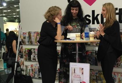 Författarjobb på Bokmässan 2015. Jenny Åkervall lanserar sin senaste bok På ditt samvete.