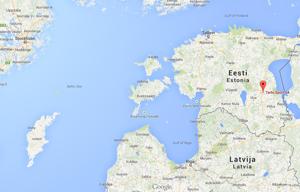 Tartu ligger 25 mil från Tallinn