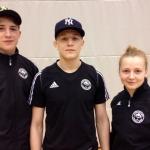 Coach och två tävlande Mattsson