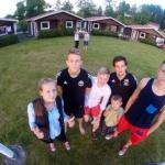 Truppen vid campingen