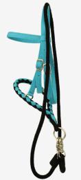 Olivia & Oliver Mini Bosal & Rope Game Rein - Bosal+ tyglar Turquoise/Black- Finns i lager