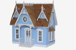 Victorian cottage Dollhouse kit 1:12 - Victorian Cottage Dollhouse kit 1:12