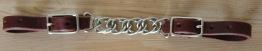 Twisted Chain Curb Strap Latigo - Twisted Chain Curb Strap