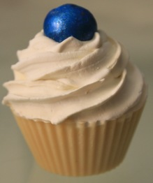 "Throat Chakra Cupcake Soap - Throat chakra, ""Vishuddha"" – blå"