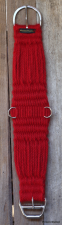 Western Mohair Cinch - Really Red 28