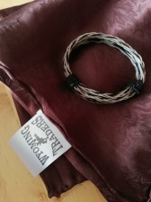100% Silk Scarf & Horsehair Bracelet -