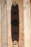 Western Mohair/Wool Vaquero Cinch - Chocolate Black 30