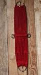 Western Mohair/Wool Vaquero Cinch - Raspberry 30