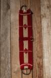 Western Mohair/Wool Vaquero Cinch - Raspberry Honey 26