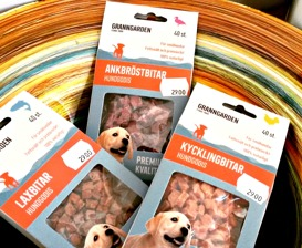 Granngårdens eget hundgodis, 100% torkat kött