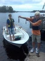 Emils första fiskar!