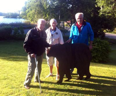 Torsten, Gunnar och Hasse med modellen av Björnen 2013!