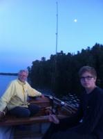 Inget napp trots bra fiskeväder med månsken, men kul ändå