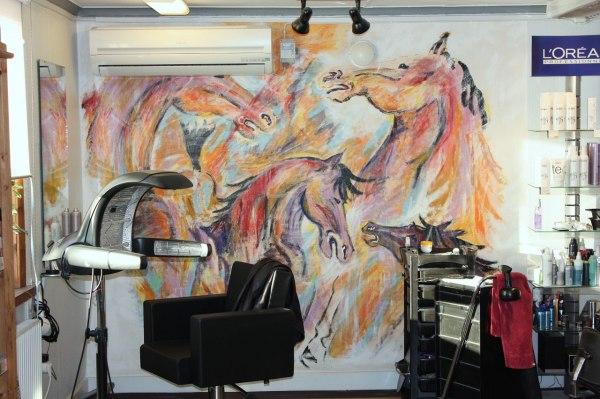 Väggmålning utförd av Annette