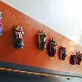Ängskolan, Sundbyberg, 2015 Masker Harald Hedelo, installation Backa Carin Ivarsdotter