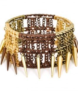 Armband med nitar och kedjor