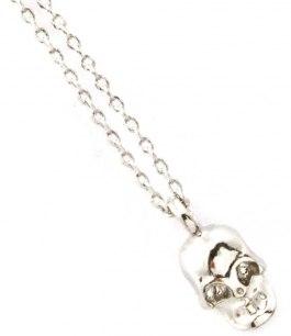 Dödskalle halsband i silver
