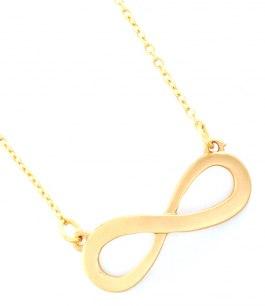 Infinity halsband matt guld