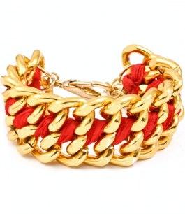 Armband - Le chain - Rött/Guld