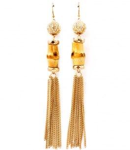 Bamboo Örhängen / Guld