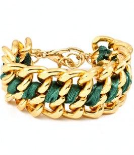 Armband - Le chain - Grön /Guld