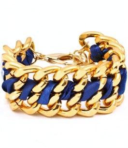 Armband - Le chain - Blått /Guld