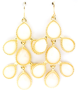 Delicious Drop Earrings / White
