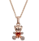 Halsband roséguld - Teddy Bear Swarovski