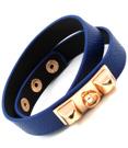 Armband med gulddetaljer (blå/guld)