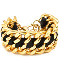 Armband - Le chain - Svart /Guld