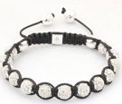 Luxury Silver Makramé armband