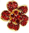 Kristallring blomma röd