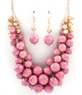 Halsband - Multi Dangle Pearl /Pink