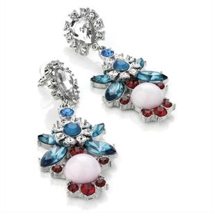 Örhängen - Mixi med stenar i blått, rosa, rött & vitt