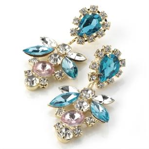 Örhängen Jessie - stenar i blått, rosa & vitt