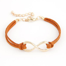 Infinity-armband i orange
