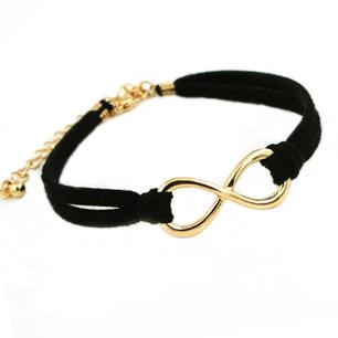 Infinity-armband i svart
