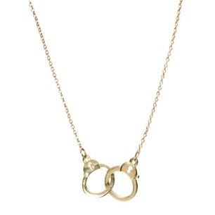 Handcuff halsband i guldplätering