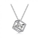 Diamond cube necklace - Petite Collection