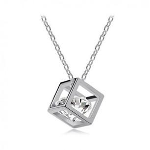 Diamond cube necklace - Petite Collection