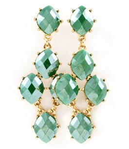 Örhängen Maxine - droppörhängen med gröna stenar