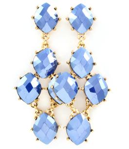 Örhängen Maxine - droppörhängen med blåa stenar