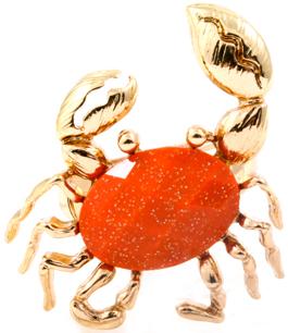 Orange sommarkrabba