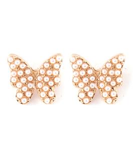 Butterfly love - stilrena örhängen med små pärlor