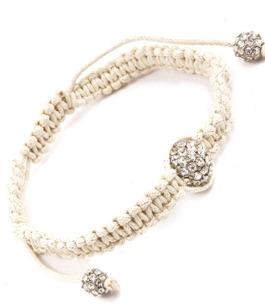 Somrigt armband med en glittrande rhinestone