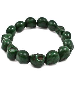 Dödskallearmband - Grön