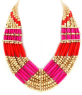 Underbart statement i Corall/Pink/Gold