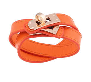 Rock Chic Double Wrap / Orange