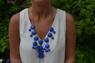 Blått bubble necklace